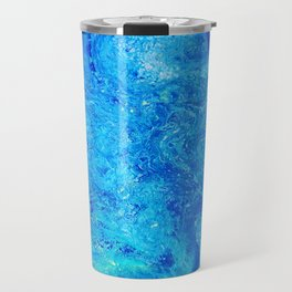 Deep Swimming Blue #buyart #abstract #acrylicart #swimming Travel Mug