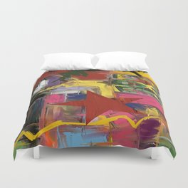 Fantasia in Pixels Duvet Cover
