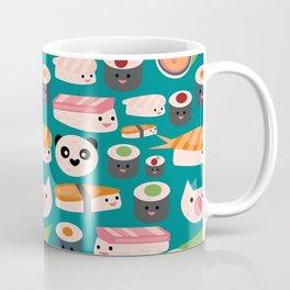 Kawaii sushi teal Coffee Mug