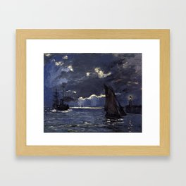Claude Monet - A Seascape, Shipping by Moonlight Framed Art Print