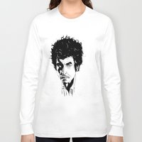 bob dylan Long Sleeve T-shirts featuring Bob Dylan by Giorgia Ruggeri