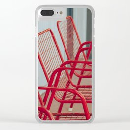 Red Chairs Clear iPhone Case