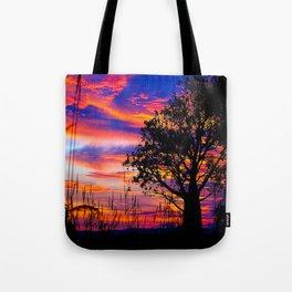 Pinks n Purples thru Boab Tree Tote Bag