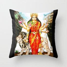 Hindu Durga 3 Throw Pillow