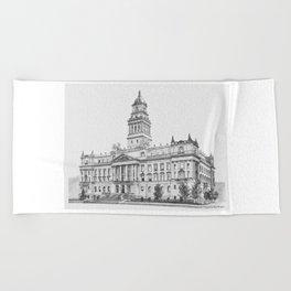 Wayne County Court House | Detroit Michigan Beach Towel