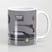 supernatural Mugs featuring Supernatural v2 by avoid peril