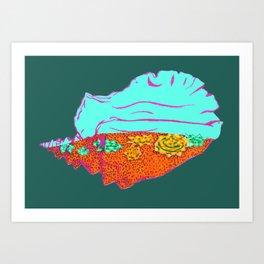 Conch Shell Terrarium Art Print