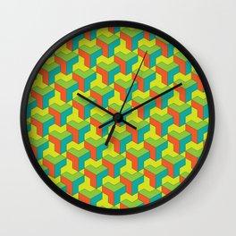 City of colorful blocks Wall Clock