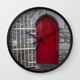 Red Door Galway, Ireland Wall Clock