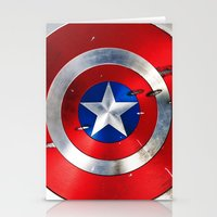 shield Stationery Cards featuring SHIELD by Smart Friend