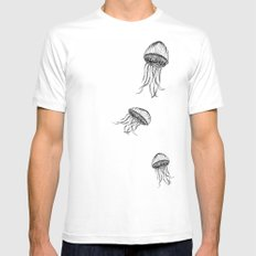 Jellyfish Octopus Creature Imaginitive  Mens Fitted Tee MEDIUM White