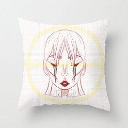 Space Girl Babe Illustration Art Print Throw Pillow