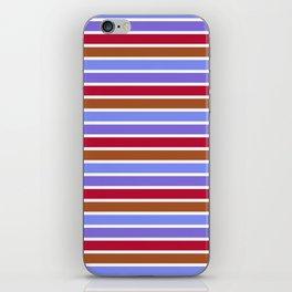 Modern violet red brown geometrical stripes pattern iPhone Skin