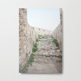 Ancient Stairs in Greece | Greek Steps at Methoni Castle | Wall Art Print Travel Photography Metal Print