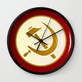 Russian Pin Badge Wall Clock