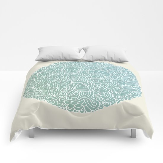 Detailed circle Comforters