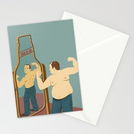 Beer mirror Stationery Cards