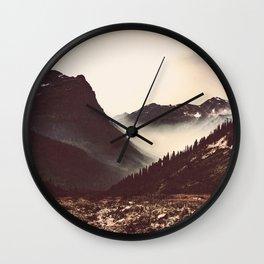 Montana Mountain Pass Wall Clock