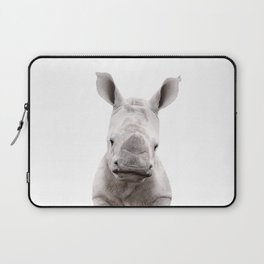 Baby Rhino Portrait Laptop Sleeve