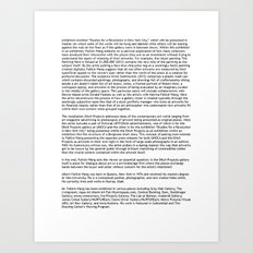UMOCA Press Release (Page 2) Art Print