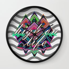 High on Life & Festival Vibes Tribal Pattern Wall Clock