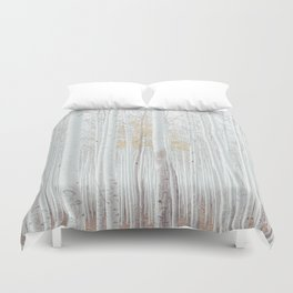 White tree forest Duvet Cover
