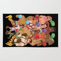 sandman Area & Throw Rugs featuring Punch-Out!! by ZoeStanleyArts