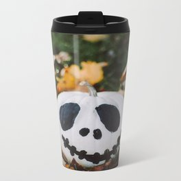Jack Skeleton Pumpkin Metal Travel Mug