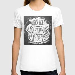 like  a pirate, black T-shirt
