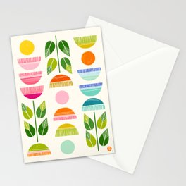 Sugar Blooms - Abstract Retro Inspired Design Stationery Cards