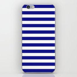 navy stripes iPhone Skin