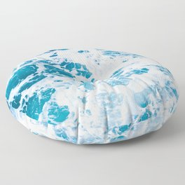 Perfect Ocean Sea Waves Floor Pillow
