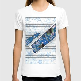 Stationary Scratch with Circuit Board T-shirt