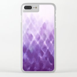 Diamond Fade in Violet Clear iPhone Case