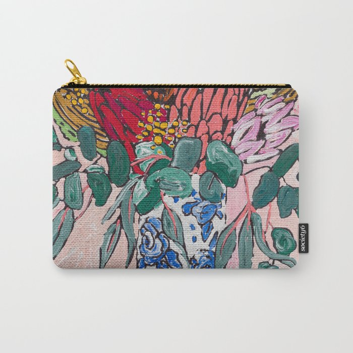 Australian Native Bouquet of Flowers after Matisse Carry-All Pouch