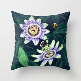 Passion Flower Vine Throw Pillow