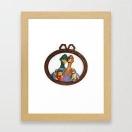 DUCK FAMILY Framed Art Print