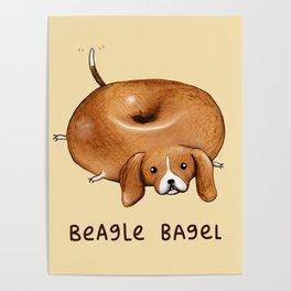Beagle Bagel Poster