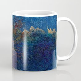 Abstract watercolor landscape with tree Coffee Mug