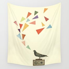 Pigeon Radio Wall Tapestry