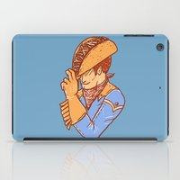 taco iPad Cases featuring Taco Cowboy by Jonah Makes Artstuff