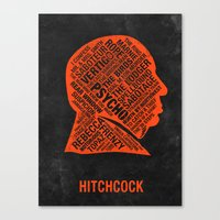 hitchcock Canvas Prints featuring Hitchcock by Eighty-Sixed