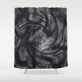 furry swirl Shower Curtain