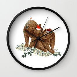 christmas bears Wall Clock