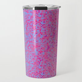 Indigo Lilac Purple Pixilated Gradient Travel Mug
