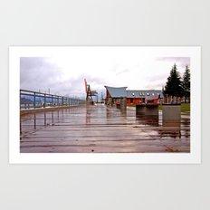 Olympia's waterfront Art Print