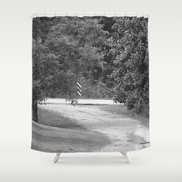 down the driveway Shower Curtain
