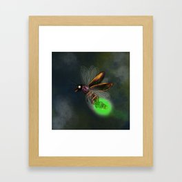 Dragonfly light bulb Framed Art Print