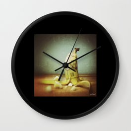Moby's Little Idiot in a Banana Crash Wall Clock