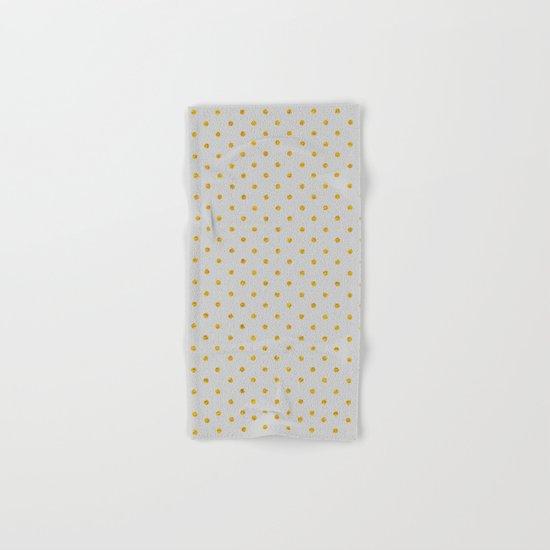 Polka dot dance on grey Hand & Bath Towel